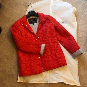 Orange Coach spring jacket